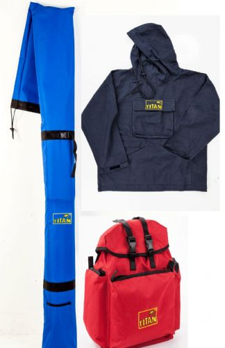 BUNDLE 2 - BRAND NEW  TITAN ™ Original Cotton Fishing Hoodie Smock, Rucksack & XL Rod Carrier